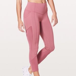 Lululemon All The Right Places Crop 10 Moss Rose